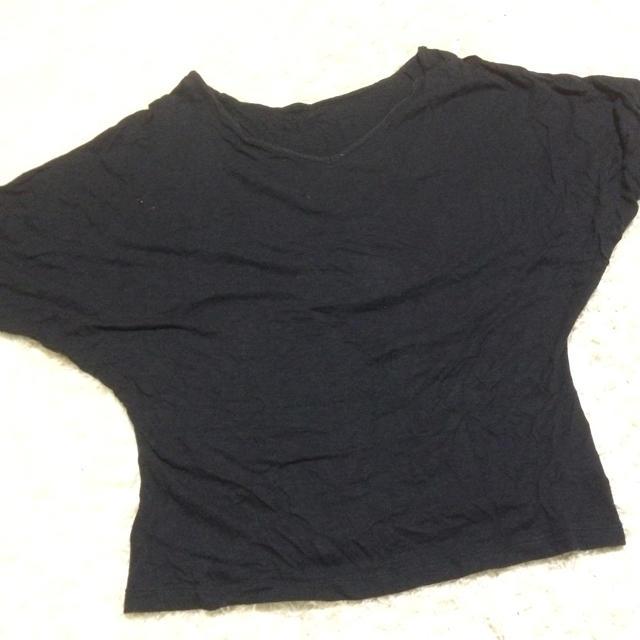 黒のトップス レディースのトップス(カットソー(半袖/袖なし))の商品写真