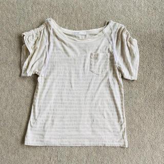 サカイラック(sacai luck)のサカイラック sacailuck ボーダー Tシャツ アイボリー×グレー(Tシャツ(半袖/袖なし))