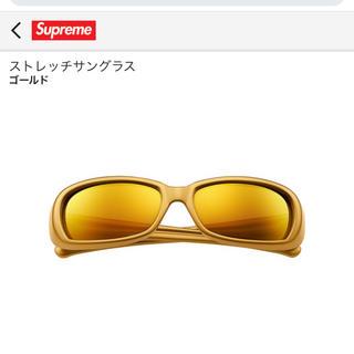 シュプリーム(Supreme)のsupreme  ストレッチサングラス ゴールド(サングラス/メガネ)