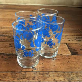 東洋佐々木ガラス - 昭和レトロ 佐々木硝子 グラス 花柄