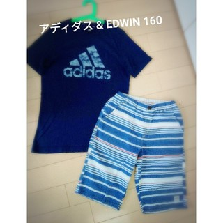 adidas - ☆ 美品 アディダス Tシャツ & エドウィン 160 セット
