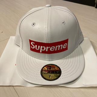 シュプリーム(Supreme)のSupreme 15F/W leather box logo new era(キャップ)