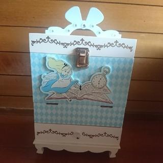 ディズニー(Disney)の不思議の国のアリス 木製コスメボックス(メイクボックス)