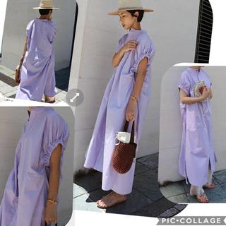 STUNNING LURE - 新品 MACHATT ギャザースリーブシャツドレス(ホワイト)