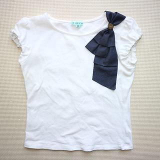 トッカ(TOCCA)のトッカ100cmリボン半袖Tシャツ/オンワード樫山/TOCCA(Tシャツ/カットソー)