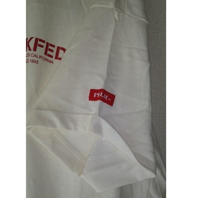MILKFED.(ミルクフェド)のMILKFED Tシャツ ワンピース 白 レディースのワンピース(ひざ丈ワンピース)の商品写真
