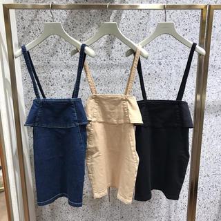 スナイデル(snidel)のSNIDEL バックデザインデニムミニスカート ほぼ新品未使用(ミニスカート)