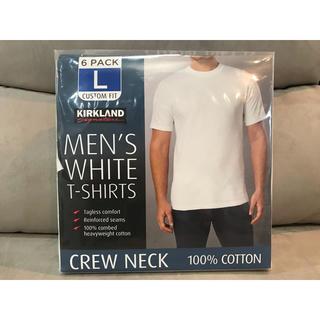 コストコ - 【6枚セット】KIRKLAND カークランド/無地Tシャツ 白シャツ Lサイズ
