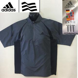 adidas - アディダス ゴルフ◇半袖 ナイロン カバーオール ジャケット◇グレー Lサイズ
