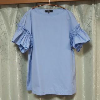 サルヴァトーレフェラガモ(Salvatore Ferragamo)のFerragamo フリルトップス(Tシャツ(半袖/袖なし))