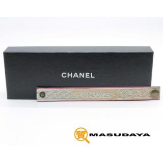 シャネル(CHANEL)のシャネルハラコレザーブレスレット【未使用保管品】(ブレスレット/バングル)