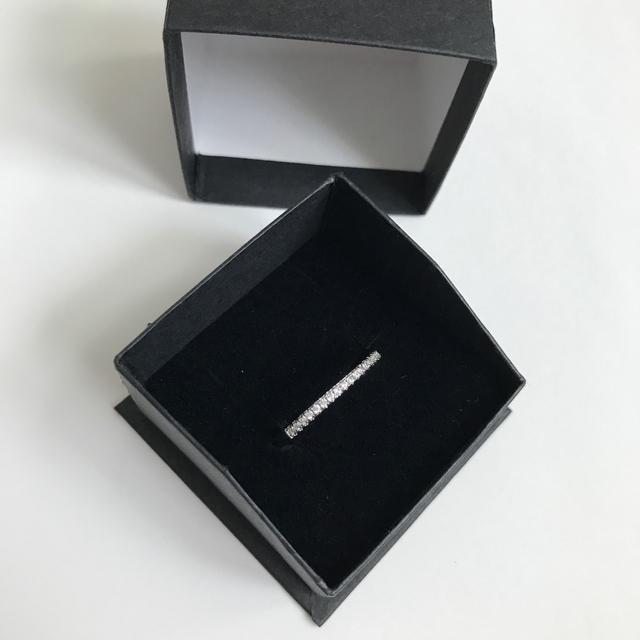 4℃(ヨンドシー)の指輪レディース美品リング.ハーフエタニティ.シルバー.ジルコニア レディースのアクセサリー(リング(指輪))の商品写真