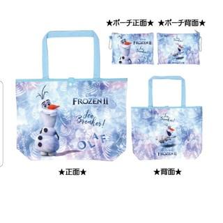 アナトユキノジョオウ(アナと雪の女王)の新品 ディズニー アナ雪2 エコバッグ オラフ(キャラクターグッズ)