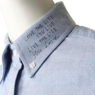 ドゥーズィエムクラス(DEUXIEME CLASSE)の MADISON BLUE メッセージシャツ ショートスリーブ 00(シャツ/ブラウス(半袖/袖なし))