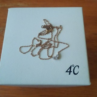 4℃ -  K18 4℃ ダイヤモンド ネックレス