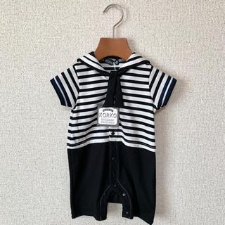 【新品】KORKO セーラーカラーショートオール サイズ70(カバーオール)