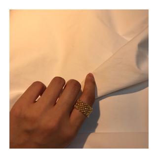 ハンドメイド ビーズ ゴールド 指輪(リング)