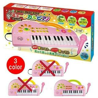 ミュージカルピアノMYマイク付 カラー グリーンピンク色の可愛いピアノ
