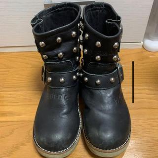 ヒステリックミニ(HYSTERIC MINI)のヒスミニ  スタッズ ブーツ(ブーツ)