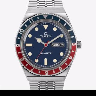 タイメックス(TIMEX)の国内正規品・即日発送 青赤ペプシカラーTIMEX Q タイメックスキュー(腕時計(アナログ))