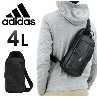 アディダス(adidas)の■エース製 adidas《アディダス》ボディバッグ 4L ブラック×グレー■(ボディーバッグ)