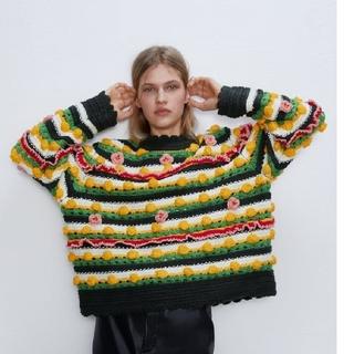 ZARA - ZARA LIMITED EDITION 刺繍入りセーター 刺繍