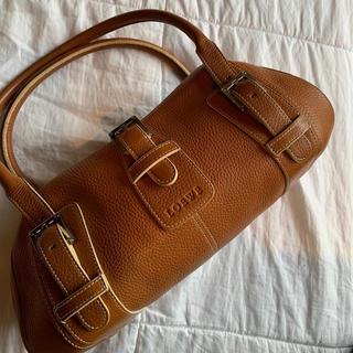 ロエベ(LOEWE)の美品 Loewe ロエベ ハンドバッグ タンカラー キャメル(ハンドバッグ)