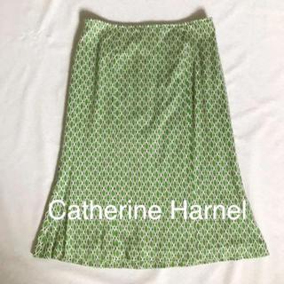 ロペ(ROPE)のCatherine Harnel キャサリンハーネル 緑ニットタイトスカート(ひざ丈スカート)