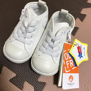 CONVERSE - コンバース ハイカットスニーカー ホワイト 靴 ベビーシューズ 13.5