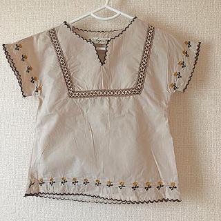 キャラメルベビー&チャイルド(Caramel baby&child )の新品未使用 刺繍セットアップ(Tシャツ/カットソー)