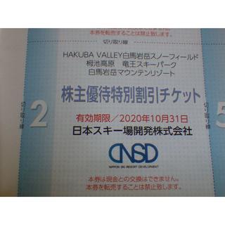 どいら様専用  NSD 日本スキー場開発 特別割引チケット 2枚(スキー場)