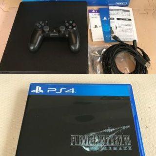 ソニー(SONY)の【美品】PS4 500GB 本体 FF7 リメイク セット(家庭用ゲーム機本体)