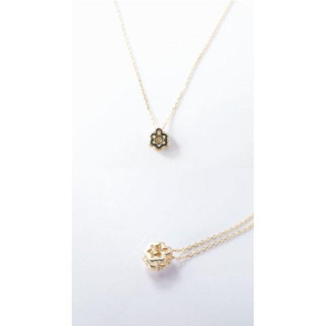 Vendome Aoyama(ヴァンドームアオヤマ)の美品 ヴァンドーム青山 K18 0.15ct お花モチーフ ダイヤネックレス  レディースのアクセサリー(ネックレス)の商品写真