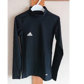adidas - アディダス アンダーシャツ 2XS(150くらい)  黒 長袖 ハイネック