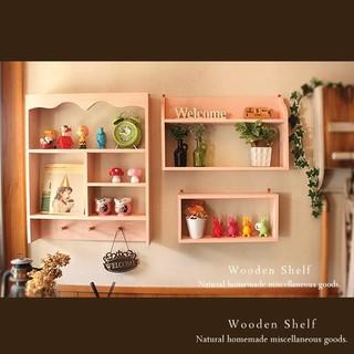 ☆3点セット☆シェルフ ニースピーチ 木製 棚 カントリー(家具)