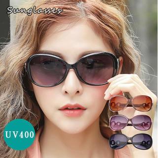 サングラス レディース 人気 軽量 外線 偏光レンズ ビッグフレーム バタフライ(サングラス/メガネ)