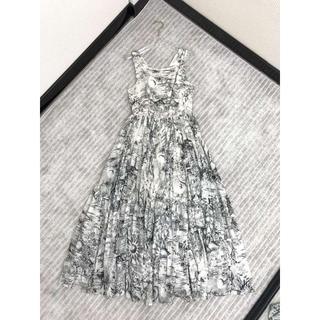ディオール(Dior)のディオール コットン プリント ロングドレス(ロングワンピース/マキシワンピース)