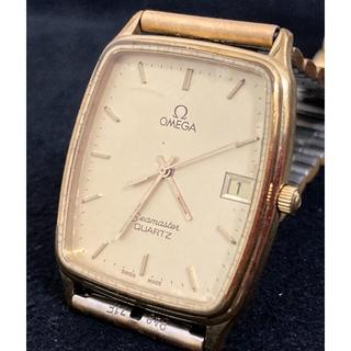 オメガ(OMEGA)の正規稼働品【OMEGA】シーマスター デイト ゴールド文字盤 スイス製 QZ(腕時計(アナログ))