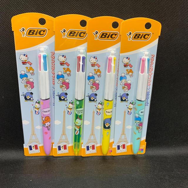 サンリオ(サンリオ)のサンリオ ボールペン BIC キキララ マイメロ bic 4色ボールペン エンタメ/ホビーのおもちゃ/ぬいぐるみ(キャラクターグッズ)の商品写真