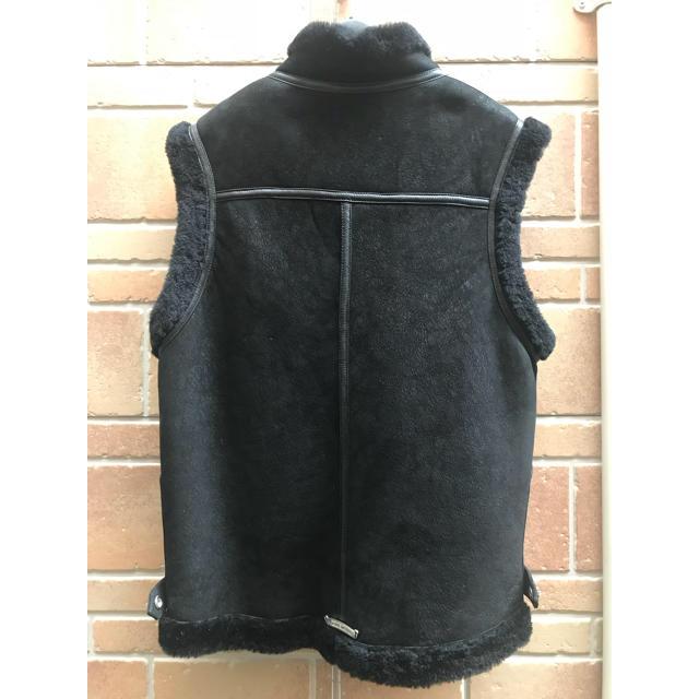 Chrome Hearts(クロムハーツ)のCHROMEHEARTS クロムハーツ ムートン レザー ベスト ジャケット メンズのジャケット/アウター(レザージャケット)の商品写真