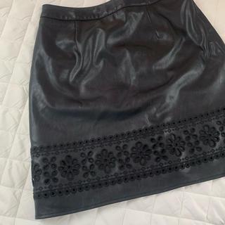 リリーブラウン(Lily Brown)のlilybrown タイトスカート花刺繍(ミニスカート)