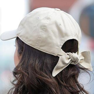 ジーユー(GU)のバッグリボン♡キャップ 帽子(キャップ)