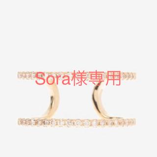 エストネーション(ESTNATION)のHirotaka ダイヤモンドダブルリング(リング(指輪))