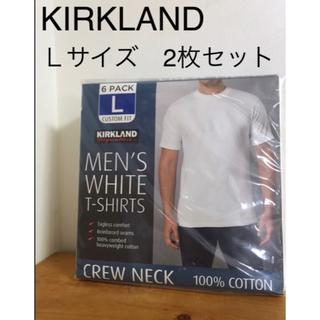 コストコ(コストコ)の新品 カークランド  Tシャツ メンズLサイズ 2枚 コストコ 話題 トレンド(Tシャツ/カットソー(半袖/袖なし))
