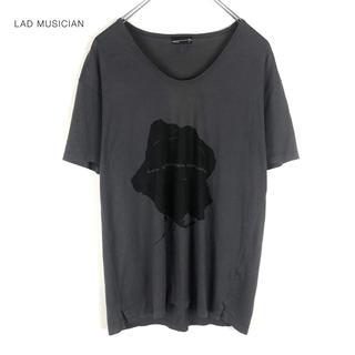 ラッドミュージシャン(LAD MUSICIAN)の【LAD MUSICIAN】 13ss Uネック ローズ プリントTシャツ(Tシャツ/カットソー(半袖/袖なし))