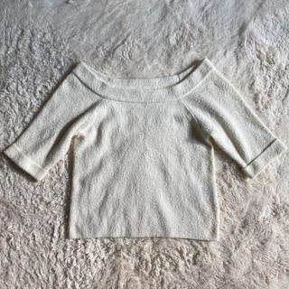 ココディール(COCO DEAL)のココディール サマーニット エクリュ ホワイト 生成り ボートネック(Tシャツ(半袖/袖なし))