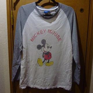 Disney - ディズニー ミッキーのTシャツ(長袖) サイズM <a357>