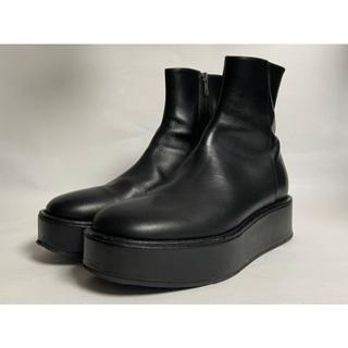 プラットフォーム レザー ブーツ 42 ブラック アンドゥムルメステール