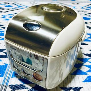 サンヨー(SANYO)のサンヨー it's ジャー炊飯器 ステンレスホワイト 5合炊き ECJ-FS50(炊飯器)