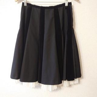 ジェーンマープル(JaneMarple)のジェーンマープル★異素材プリーツスカート(ひざ丈スカート)